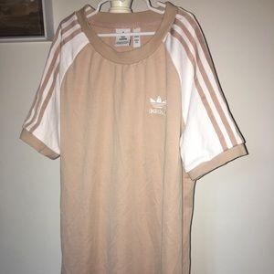 Cream Adidas T-shirt Dress